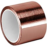 """TapeCase Copper Foil Tape with Acrylic Adhesive, Converted from 3M 1125, 6 yd Length, 2"""" Width, Roll"""