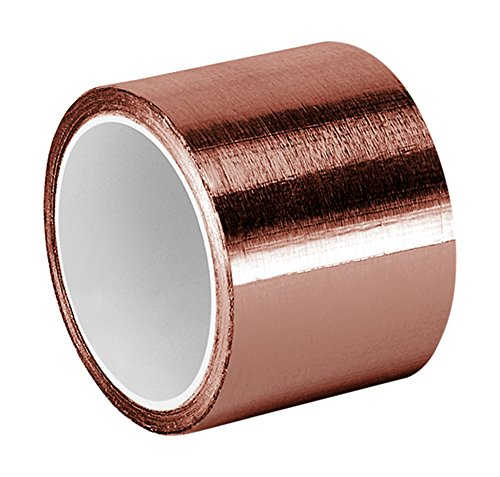 """Tapecase Copper Foil Tape With Acrylic Adhesive, Converted From 3M 1125, 6 Yd Length, 1.5"""" Width, Roll"""