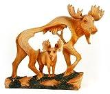 Unison Gifts MME-306 Medium Animal Woodlike Carving - Moose