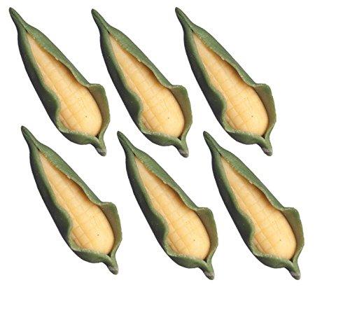 Dollhouse Miniature Set of 6 Ears of Corn in Husk (Miniature Corn compare prices)
