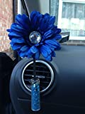 Yankee Candle Black Cherry Essence Scented Car Vase and Flower with Vase Stones - (Blue Gemmed Gerbera)
