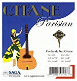 Saga dG - 010 support de guitare gitane gypsy jazz parisian strings jeu de cordes pour guitare \