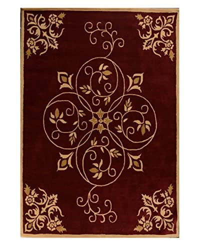 Meva Rugs Lucas Hand Tufted Rug, Red, 5' x 8'