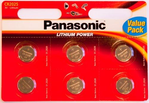 Panasonic CR2025 Piles Panasonic CR2025 Pile (PK6)