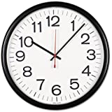 Universal Indoor/Outdoor Clock, 13 1/2-Inch, Black (11381)