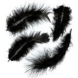 Marabou Feathers .25 Ounces-Black