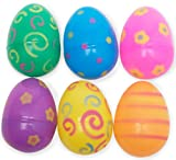 Jumbo Plastic Printed Bright Easter Eggs (12)