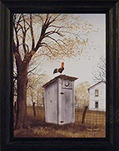 Billy Jacobs 15x19 Outhouse Bathroom Rooster Country House Primitive