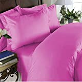 "Elegant Comfort ® 1500 Thread Count Egyptian Quality WRINKLE & FADE RESISTANT ULTRA SOFT LUXURY 4 pcs Bed Sheet Set, Deep Pocket Up to 16"" - QUEEN, Pink"