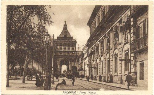 1920s Vintage Postcard Porta Nuova Palermo Italy