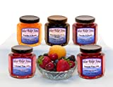 Wine Jelly and Brandy Preserves Variety Pack, Set of 6