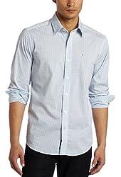 Victorinox Men's Ertsfield Stretch Poplin Gingham Shirt