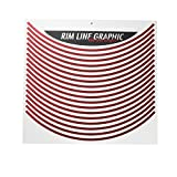 Yamaha (YAMAHA) rim line graphics metal chrome Red Q5K-YSK-001-T94