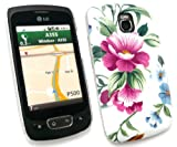 FLASH SUPERSTORE LCD SCREEN PROTECTOR AND VINTAGE FLOWERS SUPER SLIM CLIP ON PROTECTION CASE/COVER/SKIN FOR LG OPTIMUS ONE P500