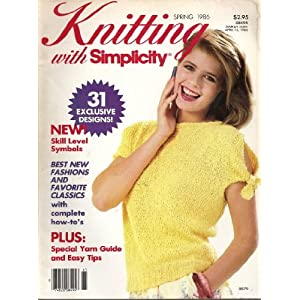 Knitting with Simplicity: Spring 1986