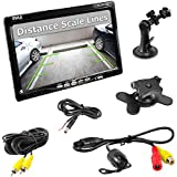 Pyle PLCM7700 Vehicle Car Van Jeep Rear View Backup Camera and Monitor Kit, 7'' Display, Waterproof Night Vision Camera, Distance Scale Lines, Parking/Reverse Assistance