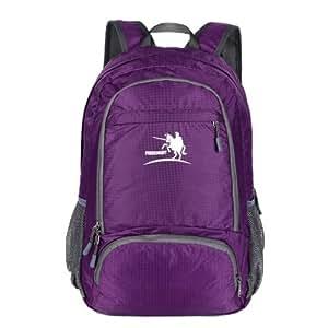 ArcEnCiel® Durable Packable Handy Lightweight Travel Backpack Daypack (Purple)