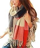 Wander-Agio-Womens-Fashion-Long-Shawl-Big-Grid-Winter-Warm-Lattice-Large-Scarf