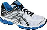 ASICS Men's GEL-Cumulus 15 Running Shoe,White/Black/Royal,11 4E US