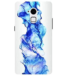 Chiraiyaa Designer Printed Premium Back Cover Case for Coolpad Note 3 (Dancing fire Blue purple waves shadow) (Multicolor)