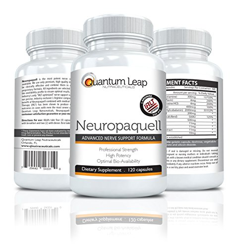 Neuropaquell. Clinical Strength Neuropathy Pain Relief. Advanced Nerve Support Formula. (Advanced Relief compare prices)