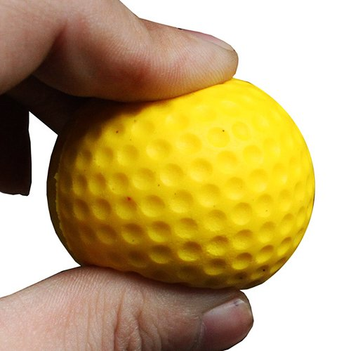 MassMall® Practice Golf Balls, Foam, 12 Count, Yellow simulation mini golf course display toy set with golf club ball flag
