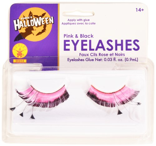 Rubies Pink and Black Eyelashes and Adhesive
