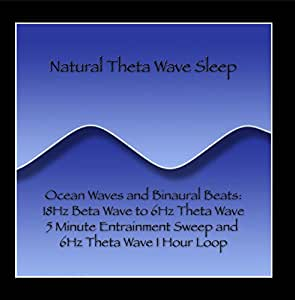 Ocean Waves and Binaural Beats: 18Hz Beta Wave to 6Hz Theta Wave 5 Minute Entrainment Sweep and 6Hz Theta Wave 1 Hour Loop