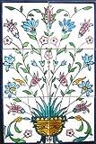 Decorative Ceramic Tiles: Hand Painted Mosaic Mural Kitchen Bath Patio Wall Décor 18 Inch x 12 Inch