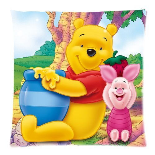 Butuku Pooh Bear Zippered Throw Pillow Cases Cover Cushion Case 18X18 (Two Sides) front-901244