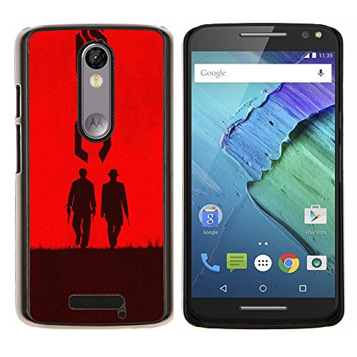 For Motorola Droid Turbo 2 / Moto X Force Case , Deux hommes de l'Ouest - Design Pattern Duro Staccabile Stile Telefono Cellulare Nuovo Caso Cover Guscio Duro