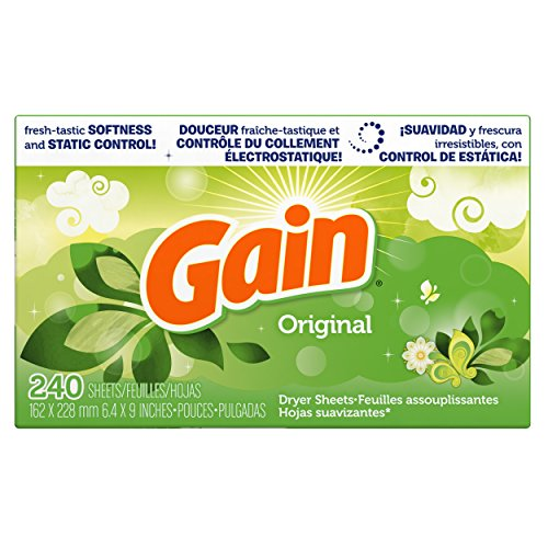 Gain Dryer Sheets, Original, 240 Count (Gain Fabric Softener Sheets compare prices)