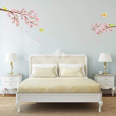 Decowall DW-1303 Cherry Blossoms & Birds Wall Stickers by Decowall