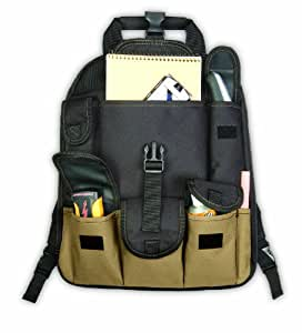 Custom Leathercraft 1130 Backpack Tool Bag, 27-Pocket
