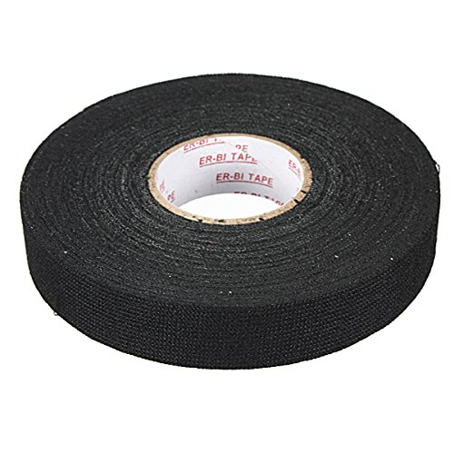 Cheap AUDEW 19mm x 25M Wiring Loom Harness Adhesive Cloth Fabric Tape Cable Loom Black NEW