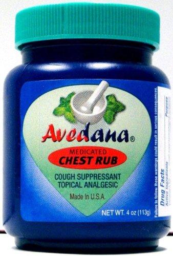 1 Jar - Avedana Medicated Chest Rub (4oz.) - Compare to Vicks VapoRub