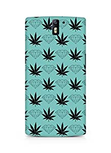 AMEZ designer printed 3d premium high quality back case cover for Oneplus One (diamond leaf)