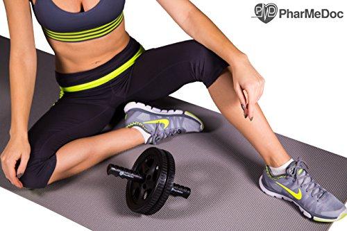 Pharmedoc ab roller exercise wheel abdominal workout