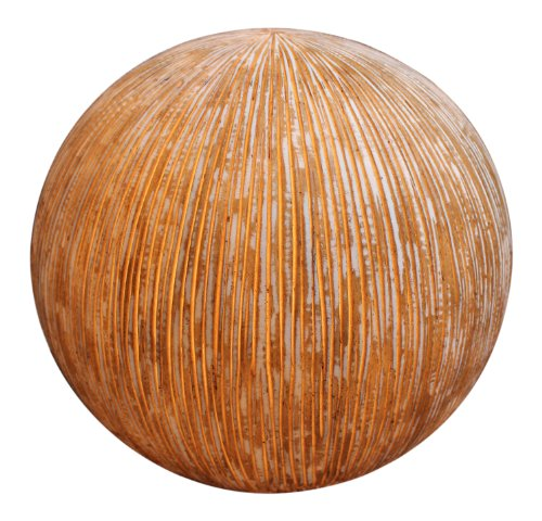 Screen Gems Sandstone Ribbed Finish Ball With Light For Outdoor Use SGS-3003