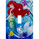ARIEL & FLOUNDER Disney Princess THE LITTLE MERMAID Light Switch Wallplate