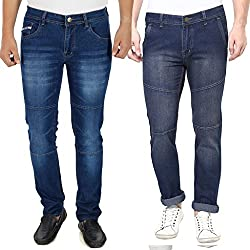 Stylox Stylish Set Of 2 Mens Slim Fit Jeans