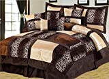 Empire Home Safari 7-Piece Comforter set- All Colors / All Sizes ON SALE Till End of The Month (King Size, Brown)