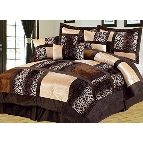 Empire Home Safari 7-Piece Comforter set- All Colors / All Sizes ON SALE Till End of The Month (Queen Size, Brown)