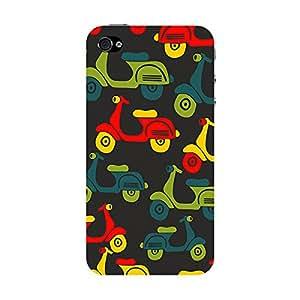 Garmor Designer Plastic Back Cover For Apple iPhone 4
