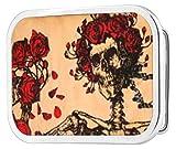 Grateful Dead Psychedelic Rock Band Rose Skeleton Rockstar Belt Buckle