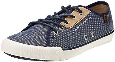 Pepe Jeans Britt, Baskets mode homme - Bleu (585), 43 EU
