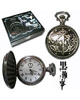 Kuroshitsuji Black Butler Sebastian Anime Pocket Watch Taschenuhr