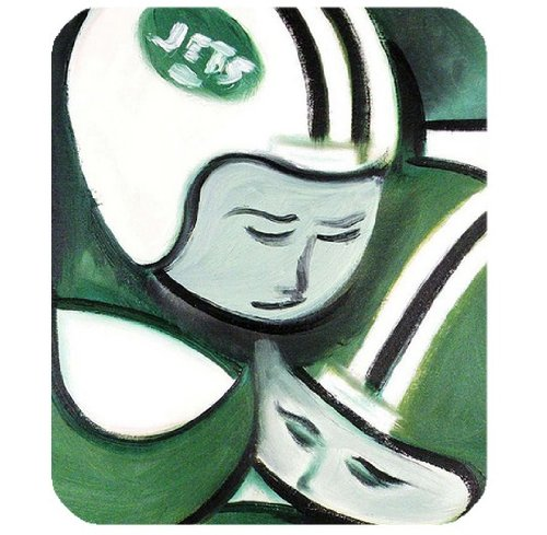 Computer mouse pad with New York Jets logo for fans by padcaseskingdom at Amazon.com