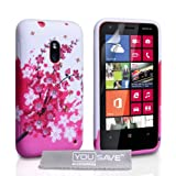 Coque Nokia Lumia 620 Etui Florale Abeille Silicone Gel Housse