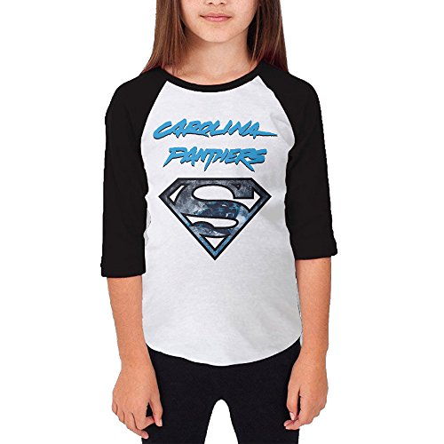 Hotboy19 Youth Girls Super Carolina Diamond Logo Raglan 3/4 Sleeve T-Shirt Black Size M (Super Bowl 46 Blu Ray compare prices)